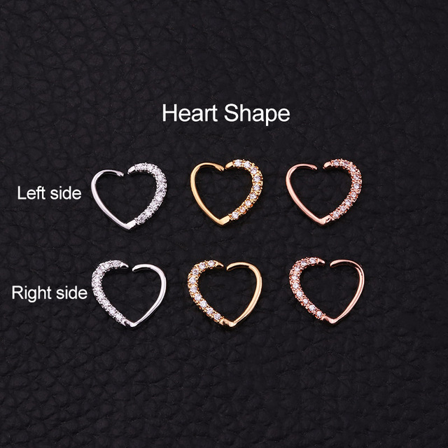 2019 New Arrival1PC CZ Hoop Nose Septum Ring Heart Daith Piercing Tragus Cartilage Helix Earring Body.jpg 640x640 - 2019 New Arrival1PC CZ Hoop Nose Septum Ring Heart Daith Piercing Tragus Cartilage Helix Earring Body Jewelry