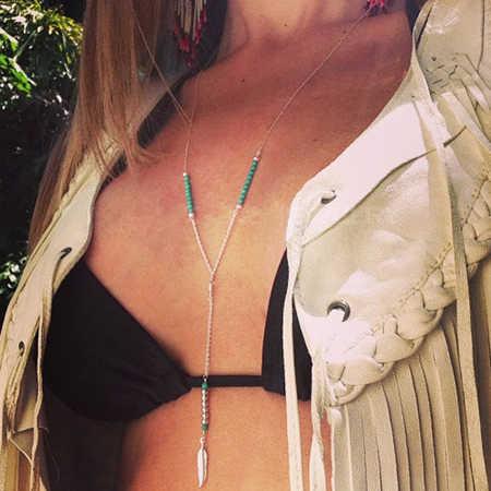 Tenande Punk Style retro koraliki strzałka Shell ananas księżyc łańcuszek do obojczyka naszyjniki dla kobiet New Fashion Kolye Bijoux Colliers