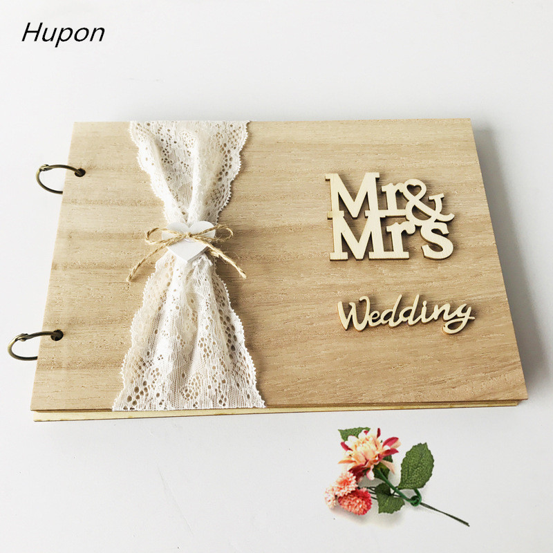 20/30 Pages Wedding Guest Book Wedding Decoration Rustic Sweet Wedding Guestbook Wedding Gifts For Guests Mr Mrs Mariage