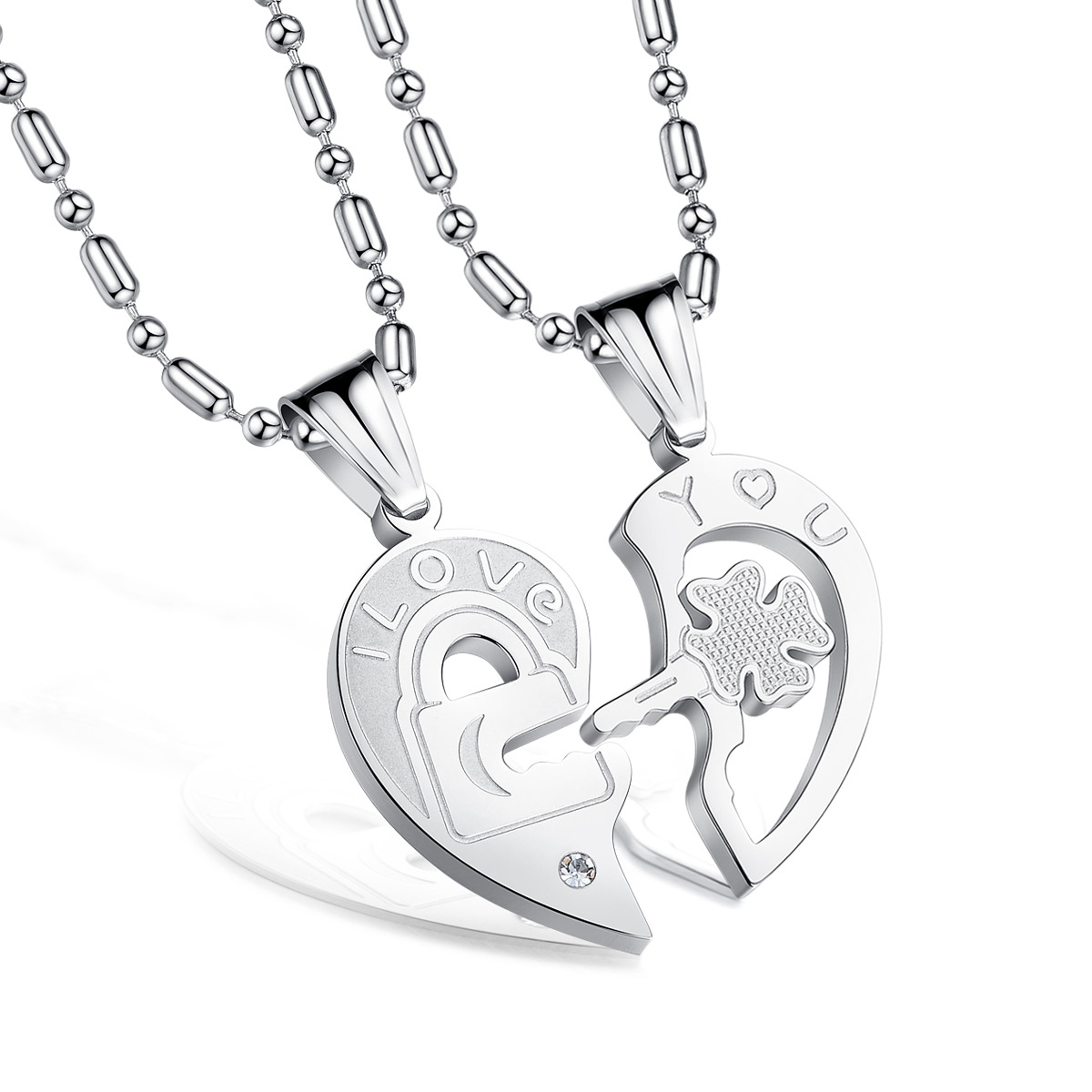 Compare Prices on Matching Heart Necklace for Couples- Online ...