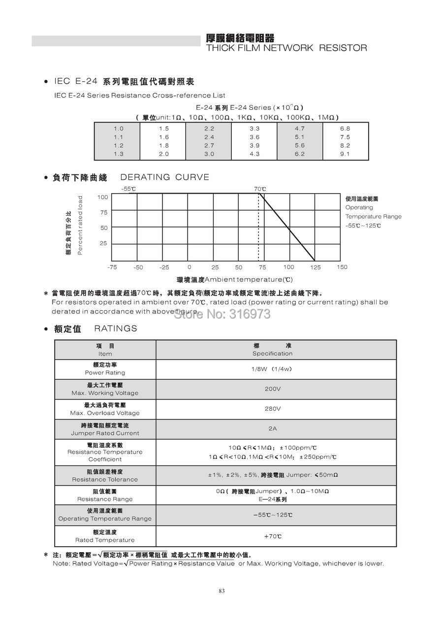 Ohm SIP-6 Thick Film Resistor Array Networks Electromyne 10K Widerstandsnetzwerke 5/% General/überholt
