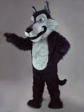 Mascotte loup noir coyote mascotte Costume fantaisie personnalisé anime cosplay kit mascotte thème déguisement carnaval costume