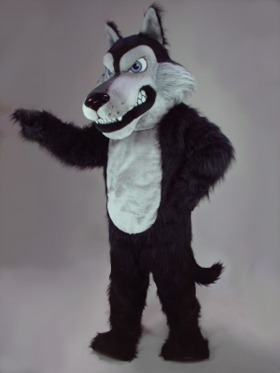 Mascotte noir loup coyote Mascotte Costume de fantaisie personnalisée costume anime cosplay kit mascotte thème fantaisie dress carnaval costume