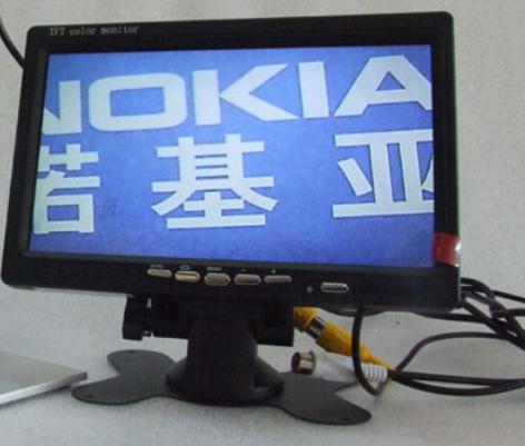 ФОТО HD 7 inch Pillow TFT LCD Color Monitor 2CH Video Input CCTV monitor