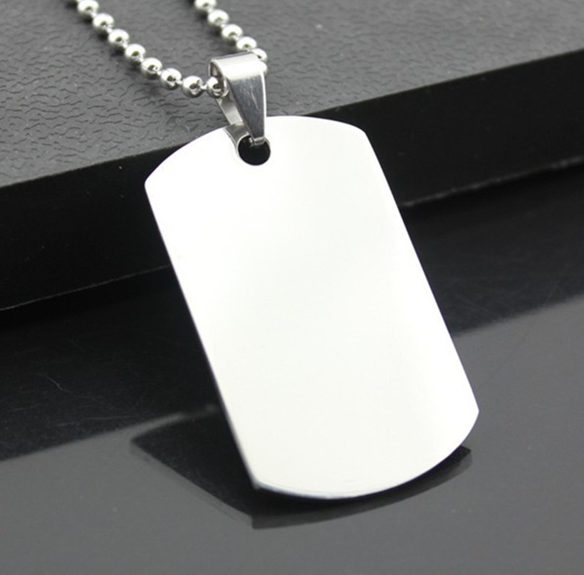 Free Shipping 316L Stainless Steel Dual American Soldiers Titanium Steel Dog Tag Wholesale Free Chain
