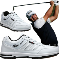 Golf shoes men's waterproof non slip nailless tendon bottom lightweight wear resistant breathable outdoor sports shoes