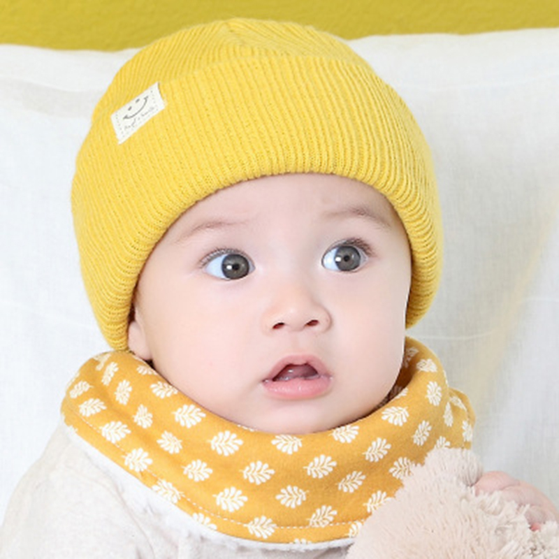 Baby Hat Kids Newborn Knitted Cap Crochet Solid Children Beanies Boys Girls Hats Headwear Toddler Caps Accessories in Hats Caps from Mother Kids