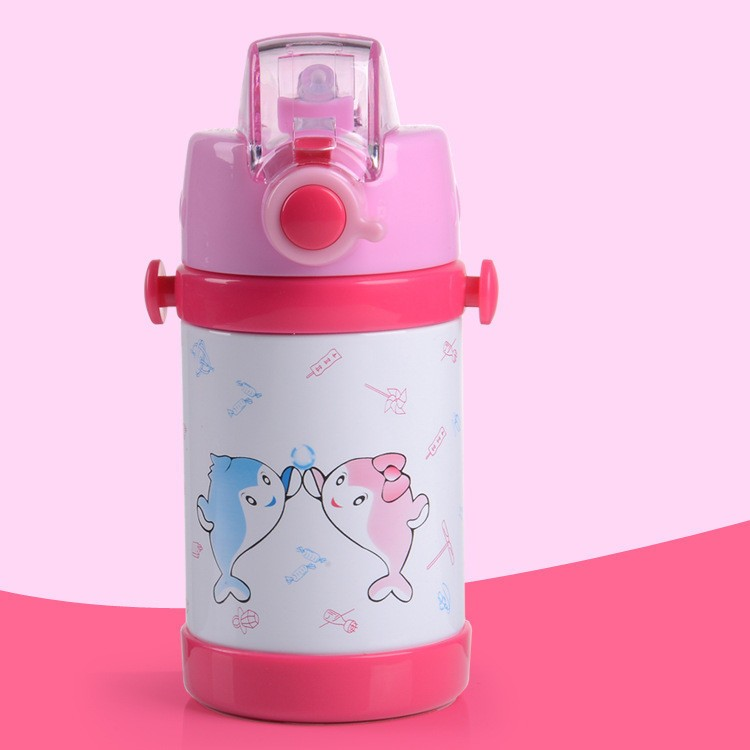 280360ml cartoon Vacuum stainless steel water bottle cup Baby Thermos Mugs Child Thermal Drink Travel Cups leakproof HJ38 (15)