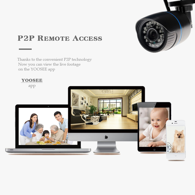 BESDER Yoosee Wifi IP Camera 720P 960P 1080P Wireless Wired ONVIF P2P CCTV Bullet Outdoor Camera With SD Card Slot Max 64G
