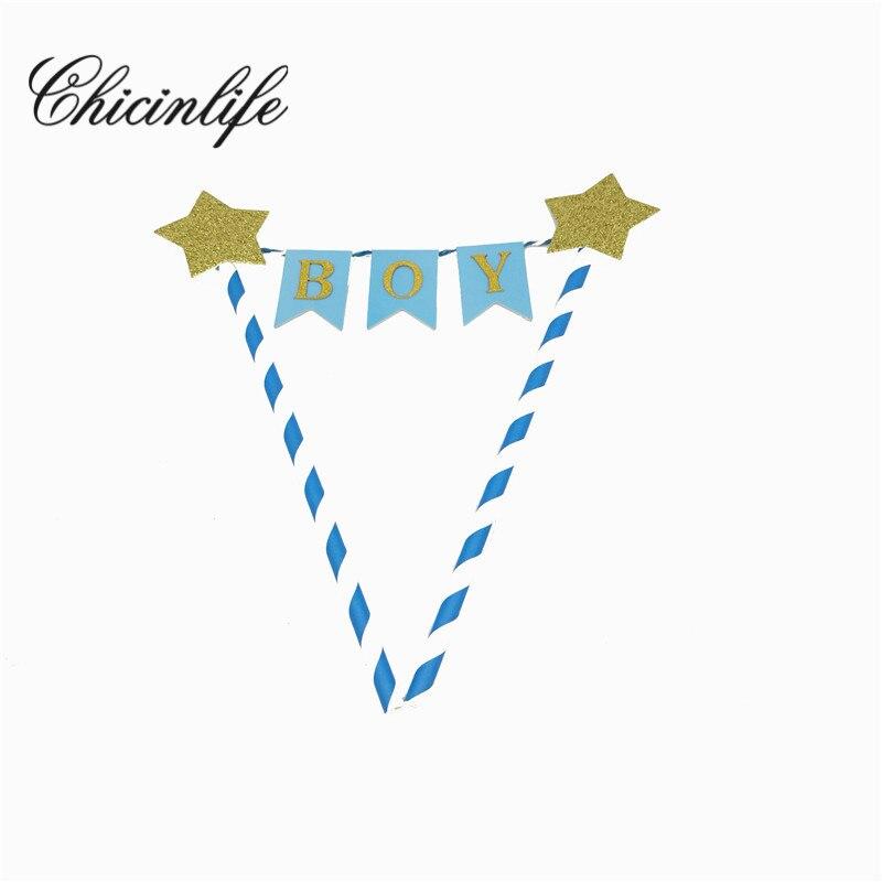 Chicinlife 1 unids purpurina rosa/azul chico/chica 1st primero Feliz ...