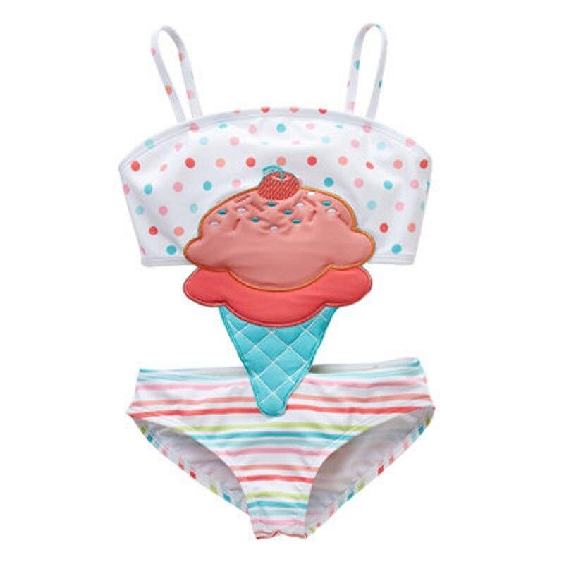 peça swimsuitgirl criança bodysuit roupa de banho