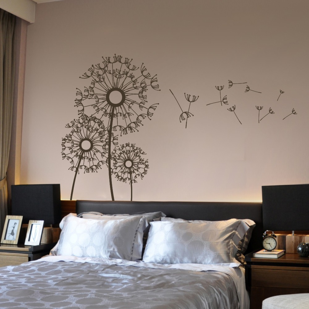 Dandelion wall decal flower kids boy girl nursery wall mural dandelion wall decal flower kids boy girl nursery wall mural flower vinyl wall decal floral dandelions 40h x 64w in hair clips pins from beauty health amipublicfo Images
