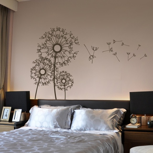 Dandelion Wall Decal Flower Kids Boy Girl Nursery Wall Mural Flower Vinyl Wall  Decal Floral