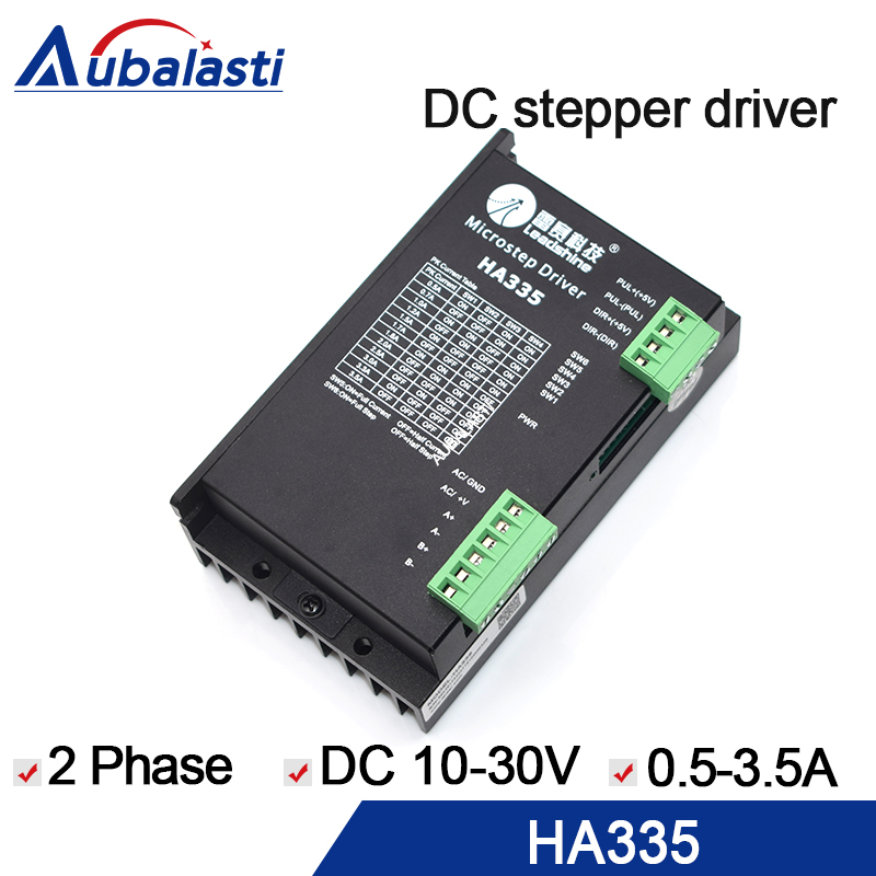 stepper motor driver leadshine HA335 Step motor driver 0.5-3.5a motor stepper driver for cnc laser engraver & cutting machine laser cutting machine 57 stepper motor with copper gear