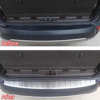Stainless Steel Car Rear Door Outside Bumper Protector Sill Scuff Plate Trim For Land Rover Discovery 5 17 Car-styling