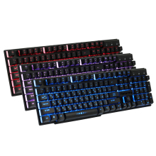 New Russian Version Keyboard Tri-colors Backlight Keyboard USB Wired Island-style Keys Gaming Keyboards For Computer Laptop