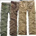 2016 Promotion Time-limited Loose Mid Full Length New Mens Casual Pants Military Army Cargo Camo Combat Work Trousers