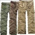 2016 de Promoción de Tiempo limitado Sueltos Mediados de Longitud Completa Nuevos Pantalones Para Hombre Casual Militares Ejército Camo Cargo pantalones de Trabajo Combat Pantalones