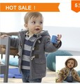 5 pcs/lot Baby Boys Jacket Clothes New Winter 2 Color Outerwear Coat Thick Kids Clothes Children Clothing With Hooded