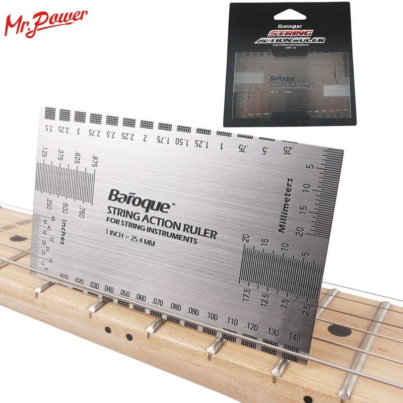 Cadena de acción calibrador de guitarra barroca bajo de paso Luthier herramienta para instrumentos de cuerda 42 B