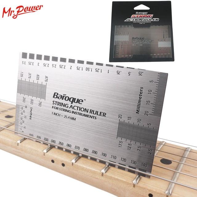 string action gauge ruler baroque guitar bass string pitch luthier tool for string instruments. Black Bedroom Furniture Sets. Home Design Ideas