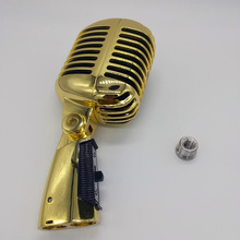 Golden 55sh Series II Iconic Unidyne Vocal Microphone Metal Retro Microphone Studio microphone Karaoke microfone microfono metal 55sh microphone rose gold color vocal dynamic retro vintage mic 55 sh for mixer audio studio video singing recording