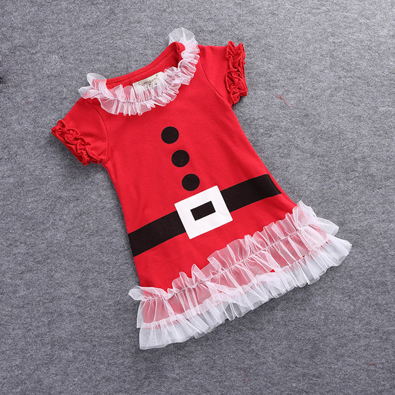 acb4f818c EABoutique 2017 New Fashion Kids girls christmas dress with lace ruffles  santa costume dress for 12M 5T-in Dresses from Mother & Kids on  Aliexpress.com ...