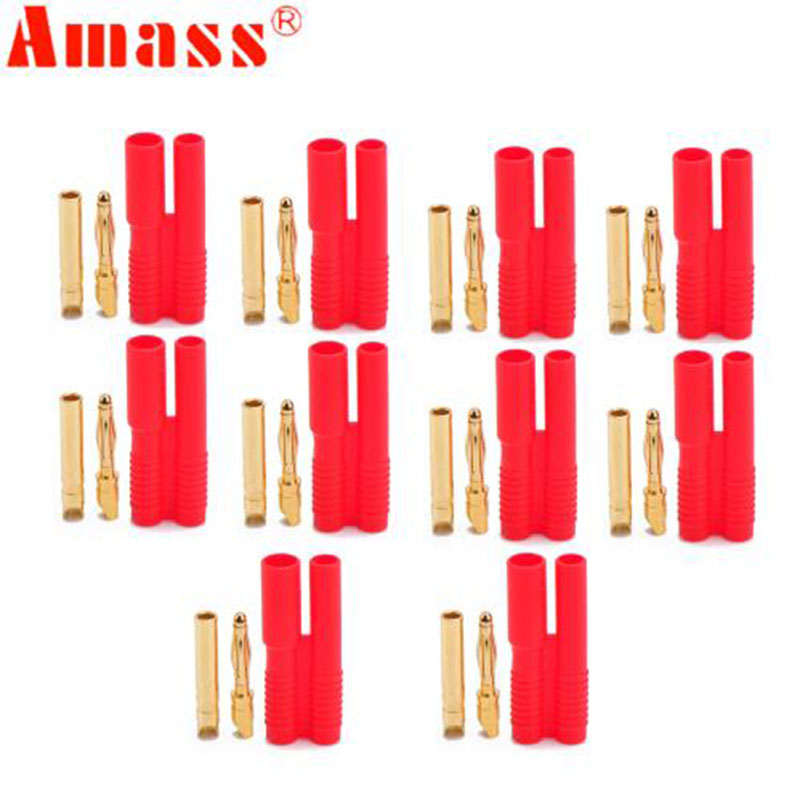 100 paires Amasser 2.0mm fiche Banane Avec Ceinture Gaine pour Rc Moteur Rc Esc RC Lipo Batterie