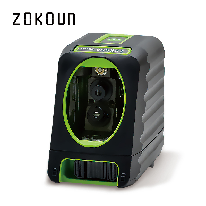 Zokoun CE certificated fall protection rubber covered slash functional 2 green Cross Lines self leveling green