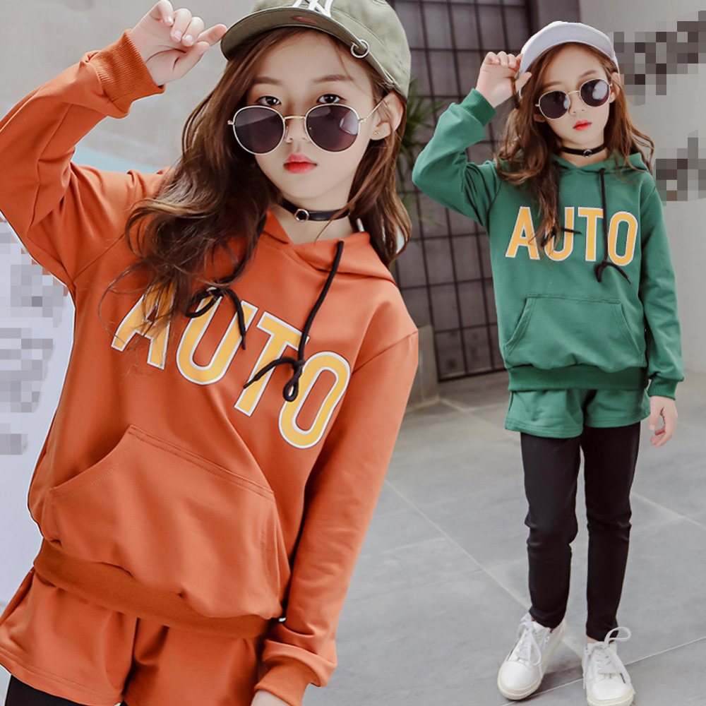 Teenage Girls Clothing Sets Spring 2018 Kids Girls Clothes Sports Suit Set Long Sleeve Top & Pants 2pcs Tracksuit teenage girls clothes sets camouflage kids suit fashion costume boys clothing set tracksuits for girl 6 12 years coat pants