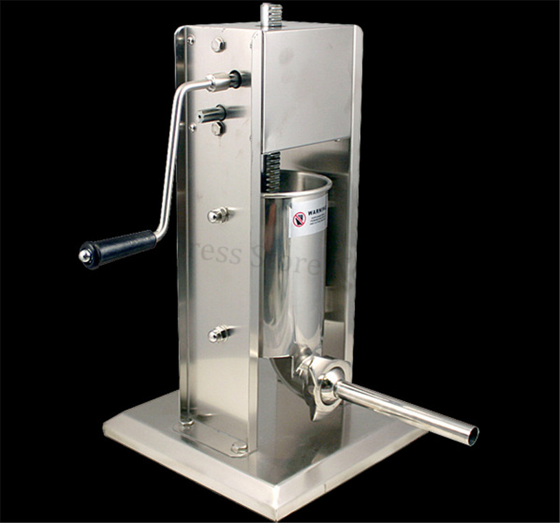 3l Manual Spanish Churros Maker Stainless Steel Vertical Sausage Stuffer Meat Sausage Filling Machine