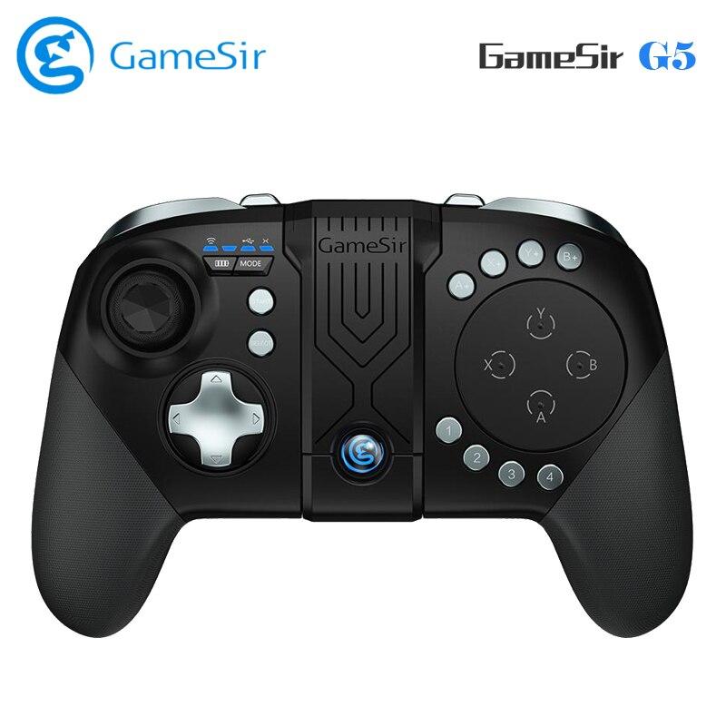 GameSir G5 Gamepad Bluetooth Contrôleur de Jeu avec Support Intégré Trackpad et Personnalisable Bouton Joystick pour MOBA/FPS Jeux