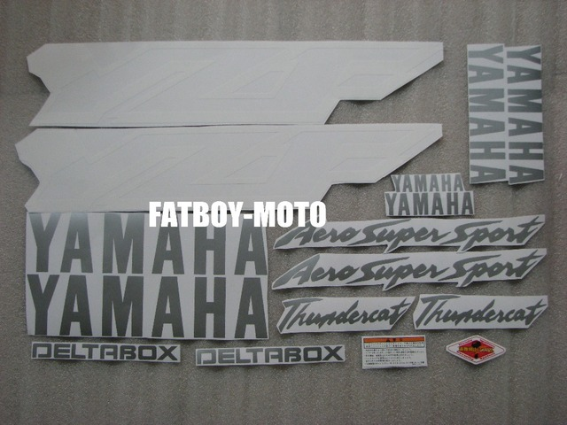 Bike motorcycle 1997 1998 1999 2000 2001 2002 2003 2004 2005 2006 2007 for YAMAHA YZF600 YZF 600 R6 fairing decal sticker silver