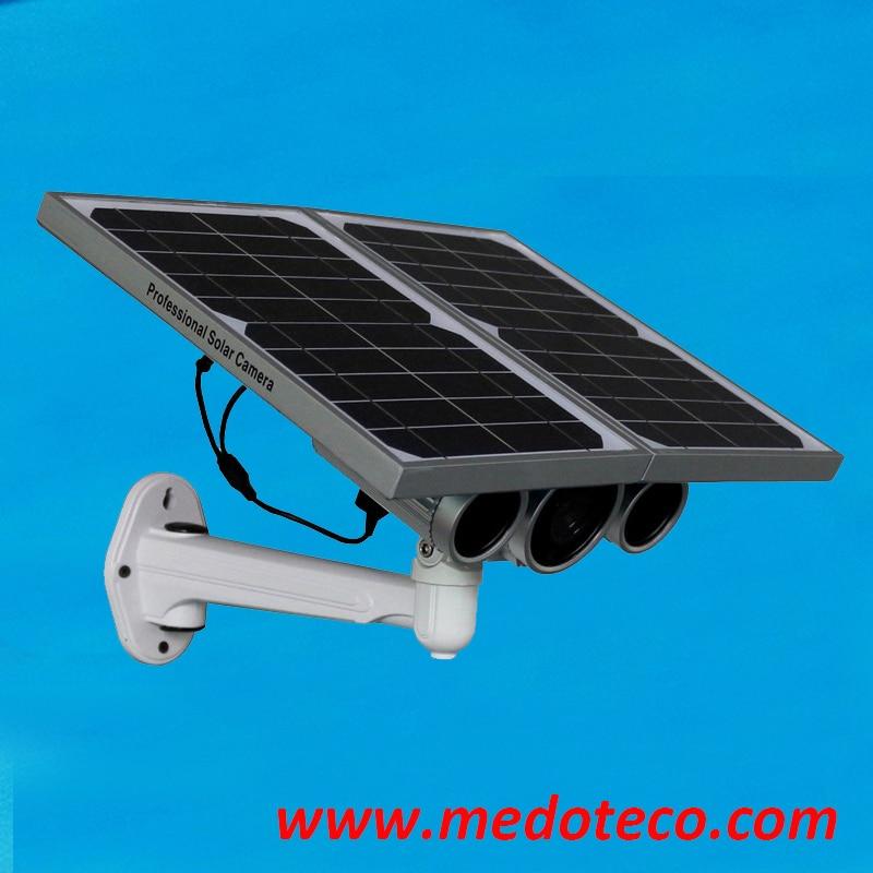New Arrival Outdoor Waterproof Solar Power Camera ONVIF Wireless Wifi 1Megapixel 720P Plug Play IR Cut Night Vision AP Function