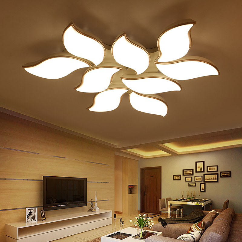 Modern Led Ceiling Chandeliers for Living Room Bedroom Decor Hanging Lighting Fixtures AC85 26V Remote control White Chandeliers