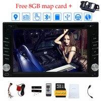 זוגי דין 6.2 ''בנגן ה-DVD לרכב דאש רכב סטיילינג שבת GPS ניווט + gps tracker מערכת Windows משלוח 8 GB כרטיס מפה + מצלמה חינם