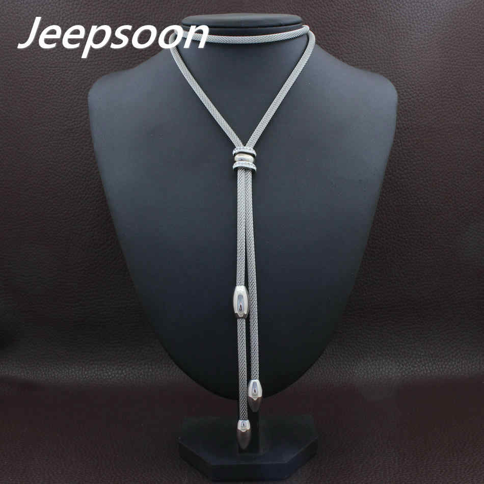 HOT Accessories Wholesale Long Stainless Steel Jewelry Fashion Silver Color Romantic Chain Necklace for women NEIACRBH
