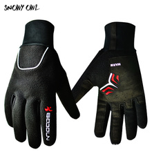 Outdoors windproof running gloves cycling football gym workout horse riding warm gloves for Man h43