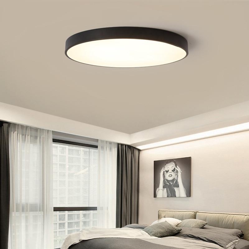 moderne simple ultra mince 5 cm led plafond lampe circulaire salon lampe chambre noir blanc. Black Bedroom Furniture Sets. Home Design Ideas