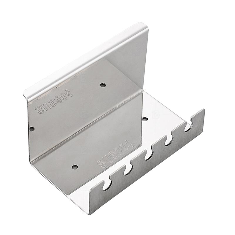 Image 2 - Bathroom Toothbrush Holder Wall Mounted Stand 304 Stainless Steel Toothpaste Rack (Punch   Five Position Toothbrush Holder)-in Toothbrush & Toothpaste Holders from Home & Garden