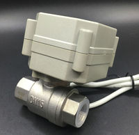 TF15 S2 C 12V 24V DN15 Electric Ball Valve SS304 BSP/NPT 1/2'' DC9V 35V 3/7 Wires Metal Gear On/off 5 Sec For Water Control