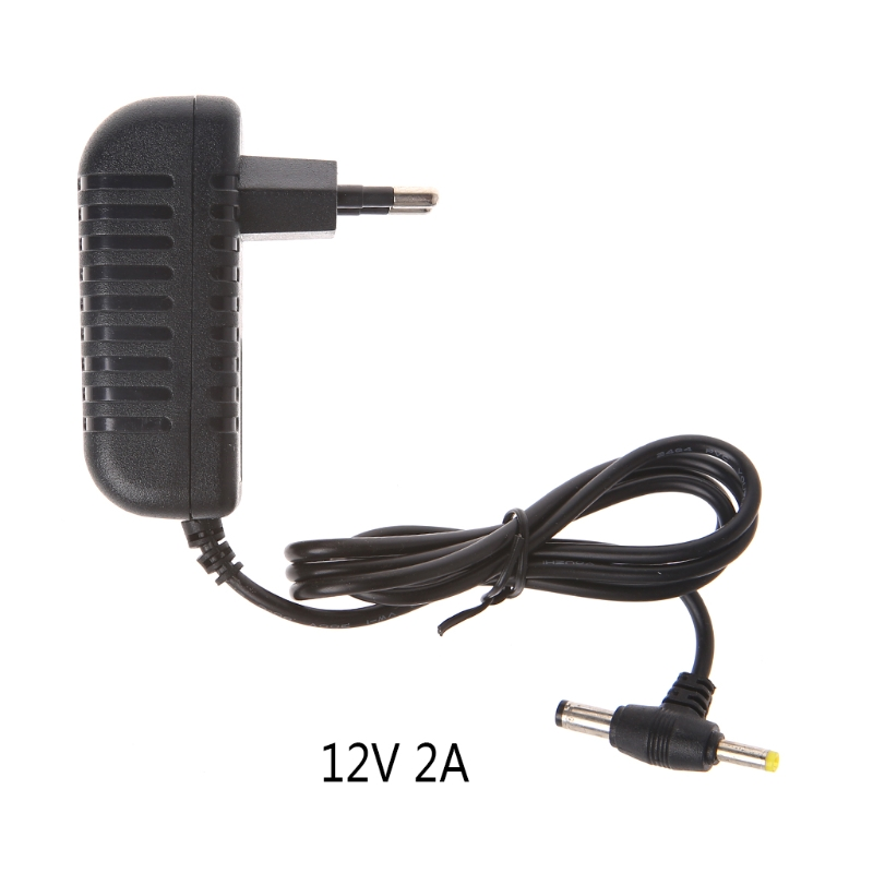 12V 2A AC Converter Adapter DC 5.5*2.1mm+4.0*1.7mm Power Supply Cable EU Plug