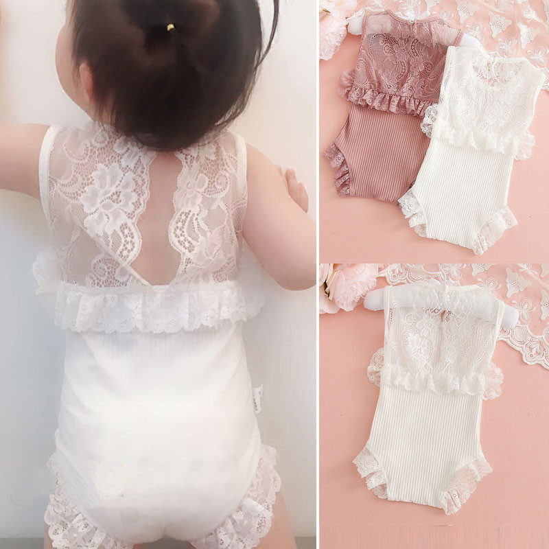 Baby Girl Lace Clothes For 0-2T Newborn Baby Girl   Rompers   Ropa Bebe Baby Costume Korean Fashion Princess Baby Clothing Spring