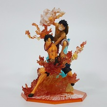 One Piece Figure Ace Luffy Figuarts ZERO 170mm Anime One Piece Pvc Action Figures Toy Fire Fist