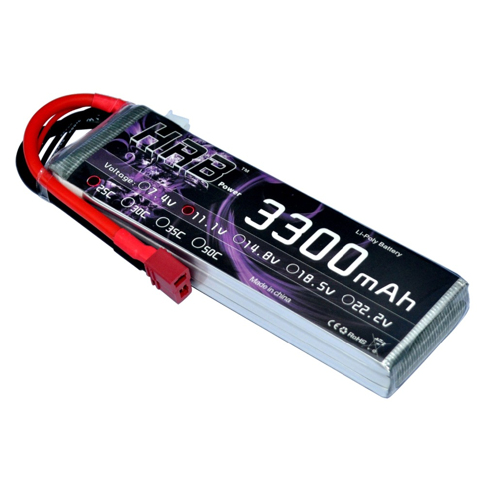 HRB RC Lipo 3S Battery 11.1V 3300mAh 25C Max 50C Drone AKKU For Helicopter RC Bateria Car Boat Model Airplane Quadcopter UAV FPV fpv x uav talon uav 1720mm fpv plane gray white version flying glider epo modle rc model airplane
