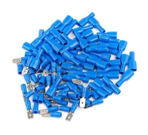 Blau FDFD2 250 Weibliche mit Flachstecker Isolierte Elektrische ...