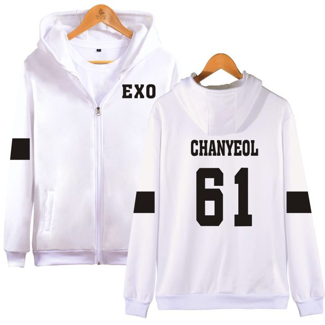 "EXO ""We Are One"" Band Member Zipper Hoodie"