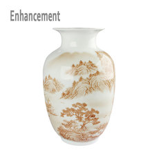 Chinese-style Handpainted Rivers And Moutains Ceramic Vase Porcelain Vases For Artificial Flower Decoration Vases