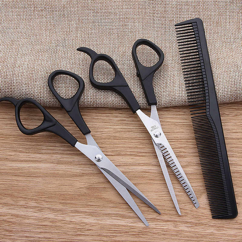 Professional 3PC Hair scissors cutting shears Salon Barber Hair Cutting Thinning Hairdressing Set Styling Tool Hairdressing comb