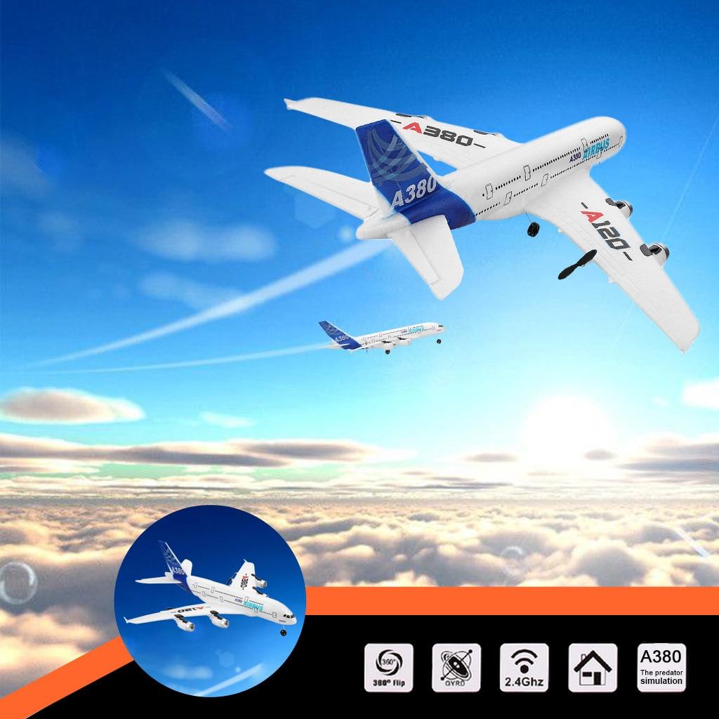 WLTOYS A120-A380 2.4 GHz 510mm envergure 3CH RC avion à aile fixe RTF RC avions télécommandés jouets